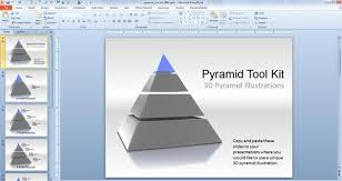 pyramid template powerpoint animated segmented pyramid diagrams