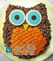 owl cake really easy owl cake sew white