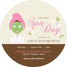 spa party theme invitations relax pampering spa party