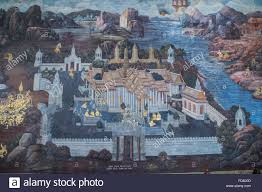 royal palace and wat phra keo temple of the emerald buddha wall royal palace and wat phra keo temple of the emerald buddha wall mural of court life
