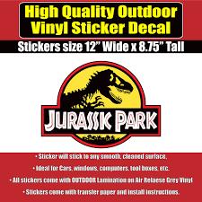 jurassic park jeep instructions jurassic park movie jeep vinyl car window laptop bumper sticker