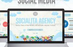 free social media powerpoint template mershia info