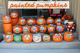 halloween paintings ideas painted pumpkins goofy face pumpkin ideas and pumpkin painting