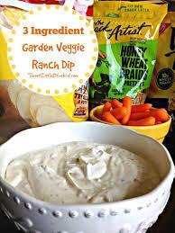 sweet little bluebird 3 ingredient garden veggie ranch dip