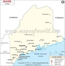 map of maine with cities city map of maine