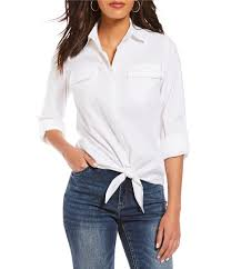 tie front blouse tie front s casual dressy tops blouses dillards com