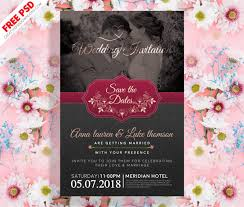 wedding invitations psd invitation post card psd