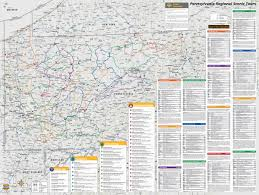 Map Of Pennsylvania by Mad Maps Usrt200 Scenic Road Trips Map Of Pennsylvania And New