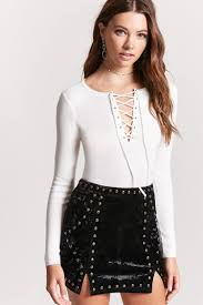 lace up sweater knit top forever 21 2000123930