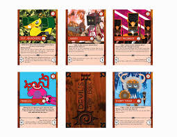 Trading Card Designer Moning Design Bfa Thesis Project Devil U0027s Toy Box Trading Card Game