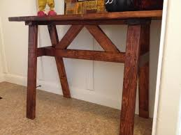 Wood Sofa Table by Cheap Wood Entry Or Sofa Table Using 2x4 U0027s A Vision To Remember