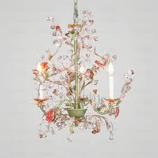 pastoral 3 light botanical crystal small bathroom chandeliers
