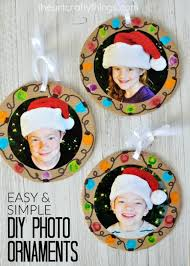 easy diy photo ornaments ornament craft and holidays