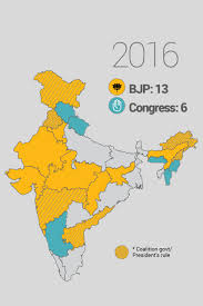 Indian States The Bjp Map Of India 2017 Newsflicks