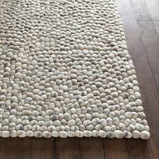 Light Gray Area Rug Stones Wool Rug In Light Gray By Chandra Rugs