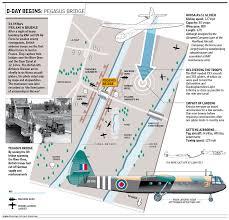 Normandy Map D Day Begins Map Pegasus Bridge Normandy Landings Operation