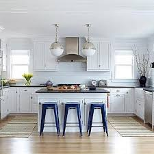 Bungalow Kitchen Design Blue And White Beach Bungalow Kitchens Design Ideas