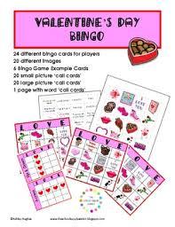free valentine u0027s day bingo 24 cards a hughes design tpt