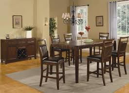 Modern Counter Height Dining Tables by Medium Brown Finish Modern Counter Height Dining Table W Options