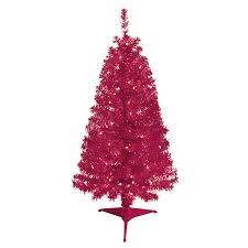 december home 4 deluxe pre lit pink tinsel tree meijer