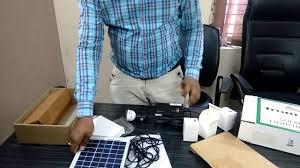 solar home lighting system youtube