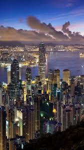 hong kong city nights hd wallpapers hong kong city night lights skyscrapers water travel