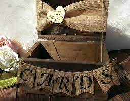 burlap banner burlap cards banner country wedding card box