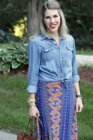 i do declaire layered chambray top and maxi dress