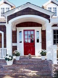 12 ways to enhance your front entry white trim red doors and