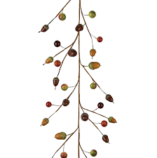 buy green brown acorn berry garland 1500mm v v rouleaux