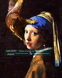 painting girl with pearl earring zucchi ad girl with a pearl earring and bath towel silly