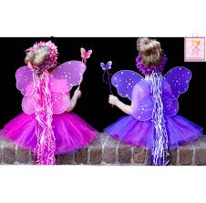 fairy princess halloween costume amazon com 7pc pink u0026 purple fairy princess costumes with