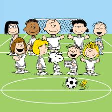 the peanuts peanuts soccer team peanuts characters play soccer and snoopy