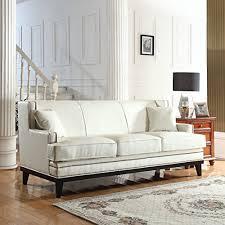 leather sofa with nailheads white leather sofas u0026 couches