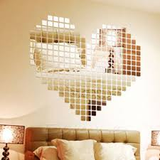 popular mirrored mosaic wall art buy cheap mirrored mosaic wall 100 mirror tile wall sticker 3d decal mosaic room decor stick on modern art china