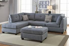 Reversible Sectional Sofas Grey Linen Sectional Sofa