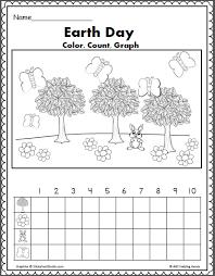 earth day math u2013 color count and graph teacher ideas pinterest