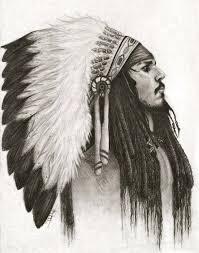indian chief headdress chief headdress skull vector