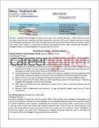 Massage Therapist Job Description Resume by Resume Must Haves For Massage Therapists Massage Therapy