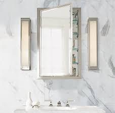 restoration hardware medicine cabinet minimalist bathroom with for