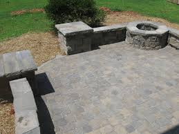 paver patio retaining wall and fire pit pool table newest stone