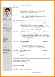 Job Resume Word Format Download by 6 Resume Word Format Download Manager Resume