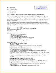 corporate resume format corporate email formats new email recruiter sle release see