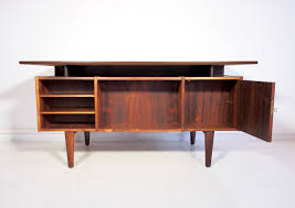 danish vintage rosewood desk with drawers and shelves for sale at