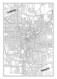Maps Of Atlanta by 1927 Atlanta Street Map Vintage Print Poster