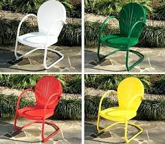 idea vintage metal patio chairs and mid century modern wrought iron