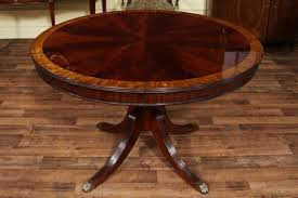 Mahogany Dining Table Light Dining Room 48 Round Table With Leaf Mahogany Oval 5584 Ebay