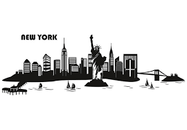 new york city skyline silhouette clipart library clip art library