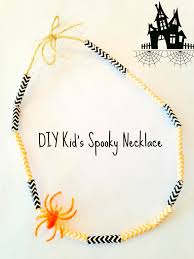 diy halloween spooky straw necklace surviving a teacher u0027s salary