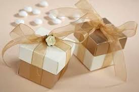 wedding gift boxes uk 50 luxury gold ivory square wedding favour boxes and lid new